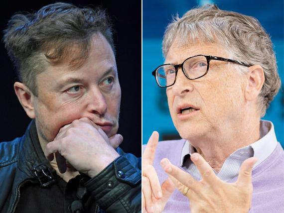 Elon Musk y Bill Gates.