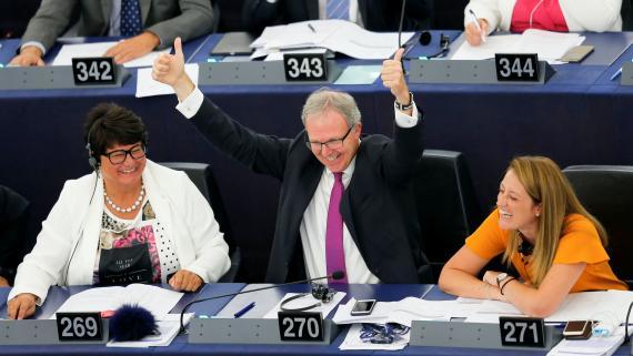 El eurodiputado Axel Voss en una sesión del Parlamento Europeo.