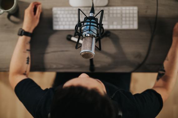 Grabación de un podcast