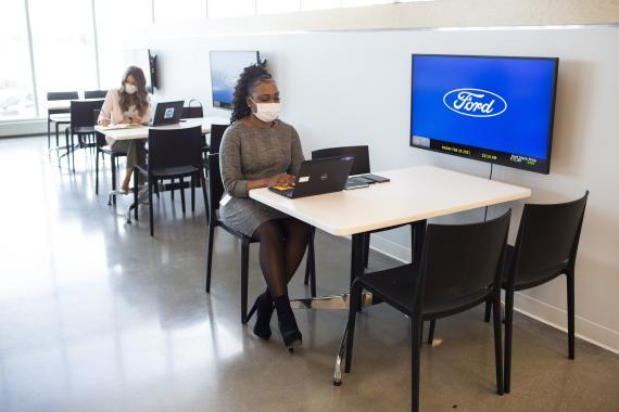 Imagen del nuevo espacio de oficinas de Ford en Michigan (EEUU)