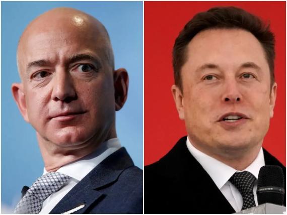 Jeff Bezos and Elon Musk.