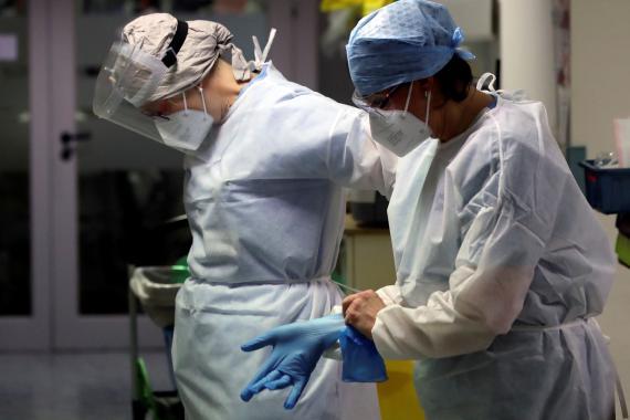 Médicos durante la pandemia de coronavirus