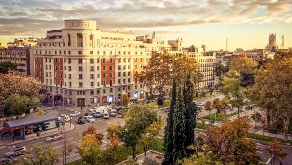 Paseo de Recoletos, en el centro de Madrid