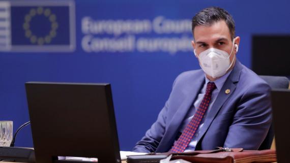El presidente del Gobierno, Pedro Sánchez, durante la reunión del Consejo Europeo de diciembre