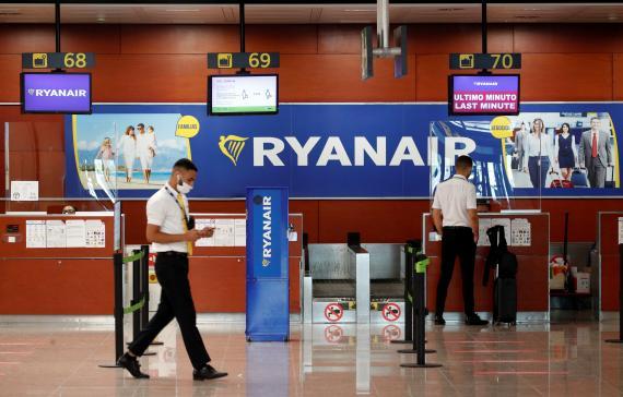 Trabajadores de Ryanair.