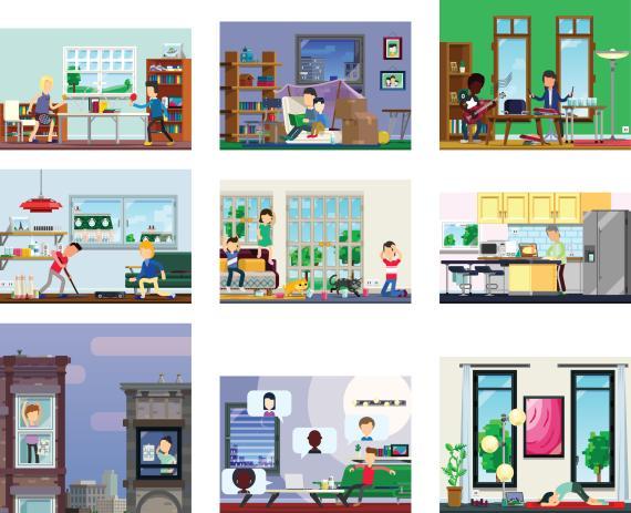 Varios dibujos de distintas casas (gettyimages)