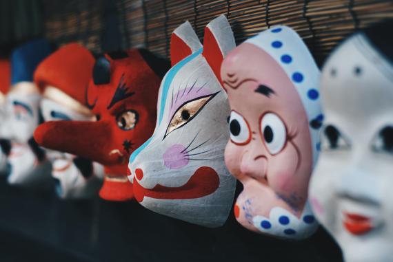 caretas, máscaras