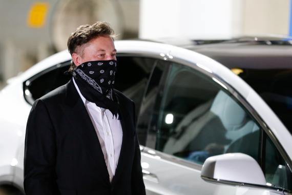 Elon Musk, el pasado 23 de abril de 2021, en el lanzamiento del SpaceX Falcon 9 (Reuters)