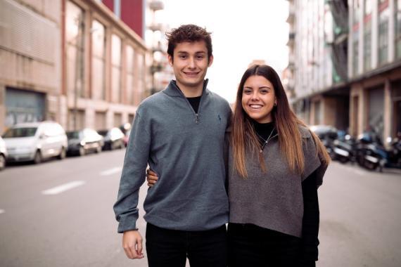 Hernán Hernández y Marta Maneja, ganadores de Emprendedor Z con su proyecto 'Gloop'.