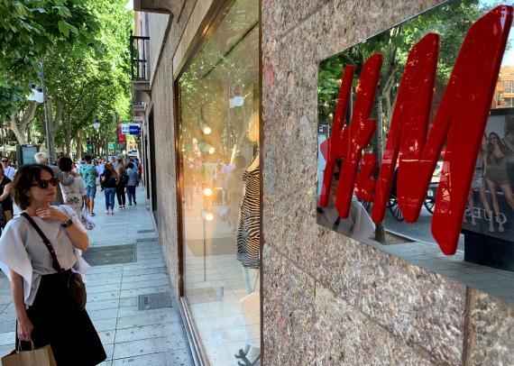 en imagen, una tienda H&M