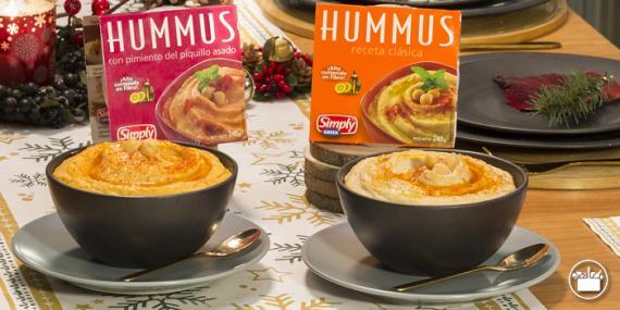 Hummus de Mercadona clásico y con pimientos del piquillo asado (Mercadona)
