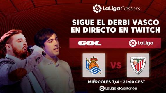 Ibai Llanos y Ander Cortes retransmitirán el Real Sociedad - Athletic por Twitch (LaLiga)