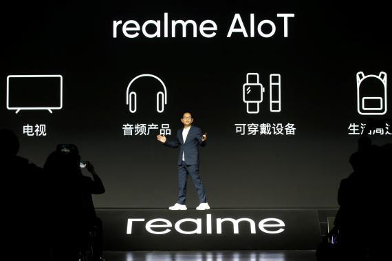 Li Bingzhong, CEO de realme, durante un evento en 2020.