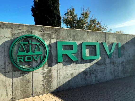 Logo de los laboratorios farmacéuticos Rovi