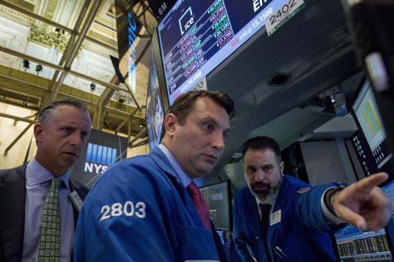 Mercado de valores de Nueva York.