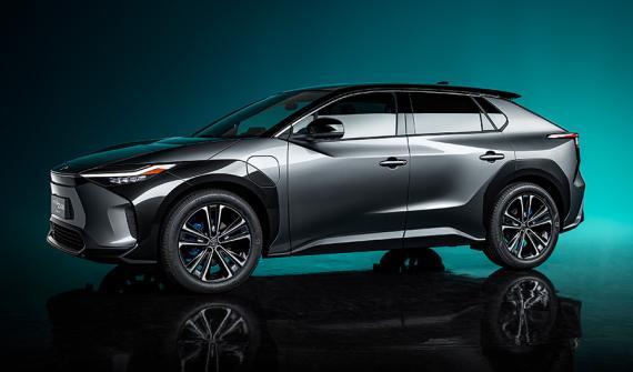 Imagen del nuevo Toyota bZ4X, el SUV eléctrico desarrollado por la compañía japonesa.