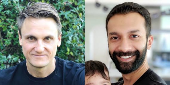 Paul Davinson y Rohan Seth, fundadores de Clubhouse