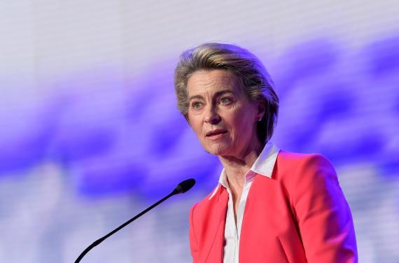 La presidenta de la Comisión Europea Ursula von der Leyen.