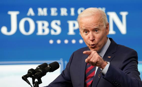 El presidente de EEUU Joe Biden, durante la presentación de su plan de infraestructuras