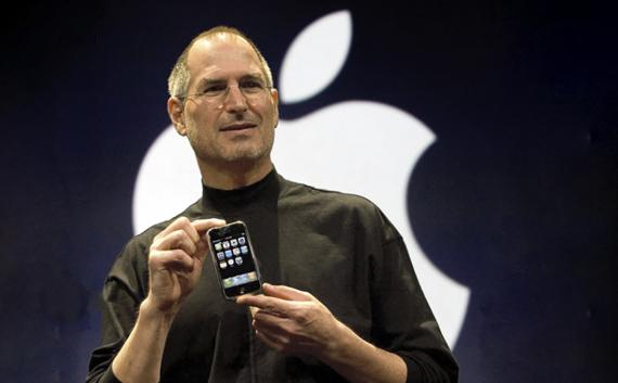 Steve Jobs en la presentación del iPhone.