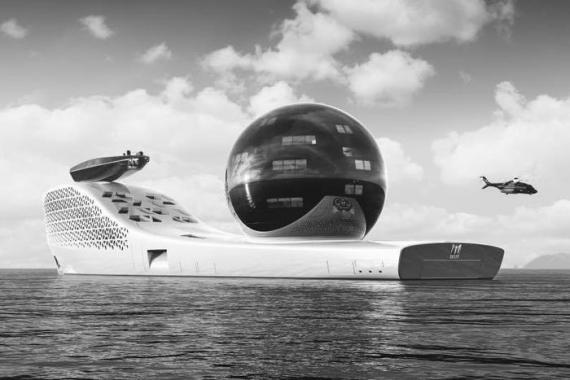 El superyate Earth 300 tiene previsto zarpar en 2025.