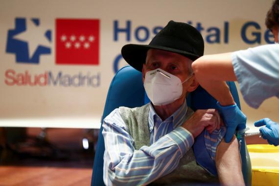 Vacunación en Madrid contra el coronavirus