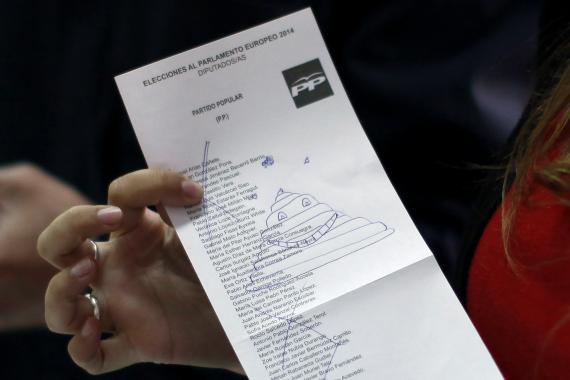 Voto nulo en las Elecciones al Parlamento Europeo de 2014 (Reuters)