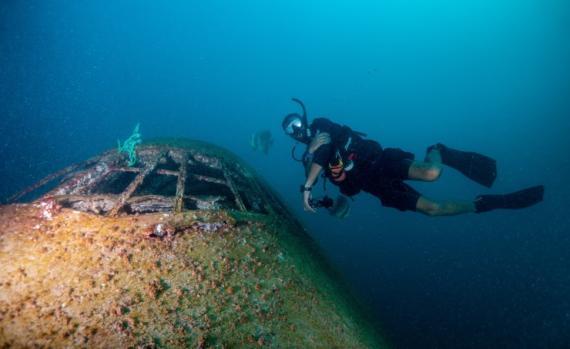 Este B747 forma parte del parque submarino Dive Barhain.