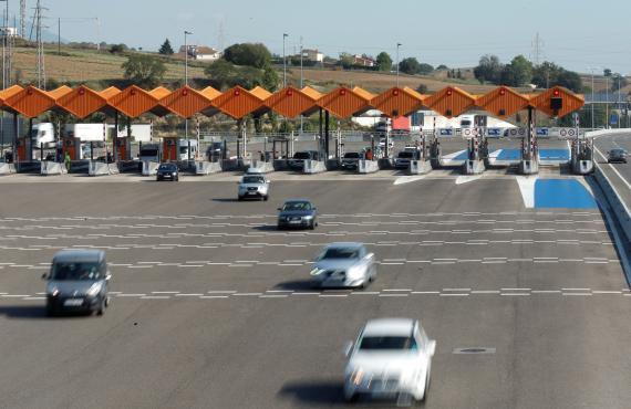 Carretera de peaje en Madrid