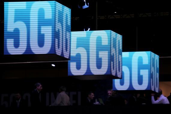 Un cartel de 5G