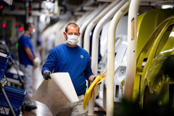 Fábrica de Volkswagen en Wolfsburgo (Alemania)