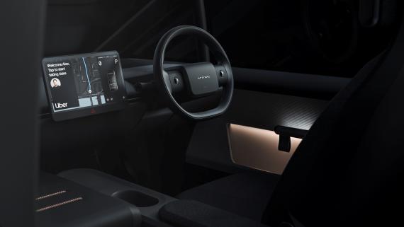 Diseño del interior del Arrival Car.