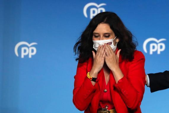 Isabel Díaz Ayuso tras los resultados de las elecciones en la Comunidad de Madrid de 2021