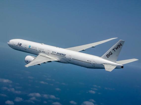 El Boeing 777-300ER 'Big Twin'.