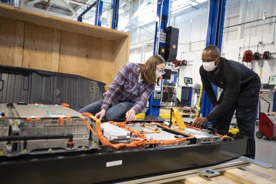 Laboratorio de baterías de Ford en Allen Park (Michigan, EEUU)