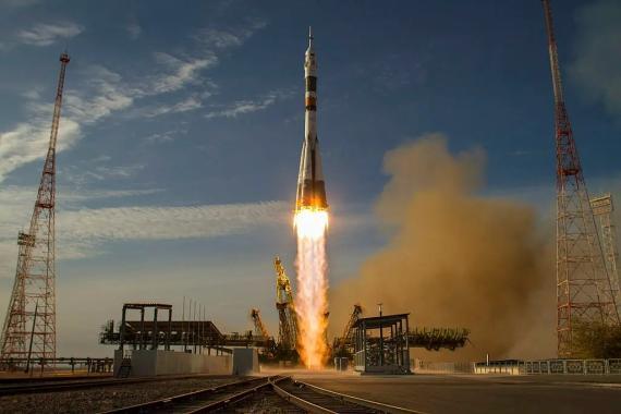 Lanzamiento de un cohete Soyuz a la Estación Espacial Internacional desde Baikonur (Kazajstán), el 23 de octubre de 2012.