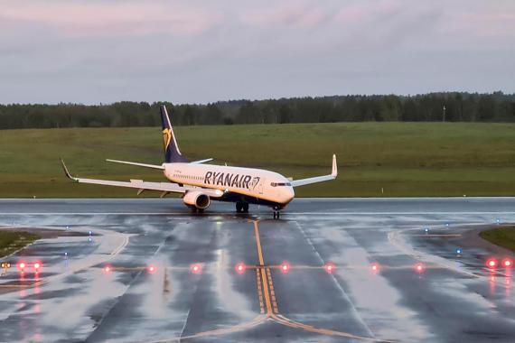 Llegada a Vilnius del vuelo de Ryanair desviado a Minsk por las autoridades de Bielorrusia