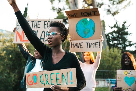 Manifestación en favor del medio ambiente