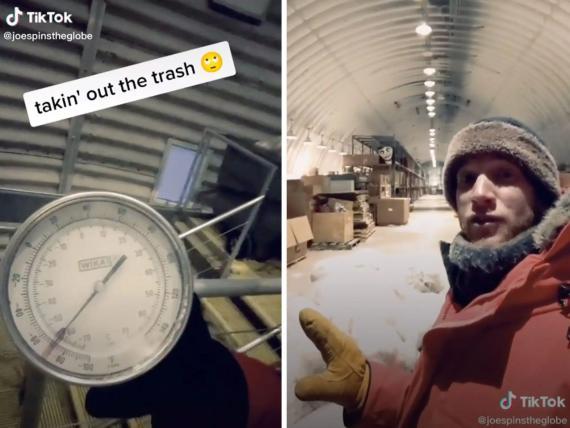 El viajero y TikToker Josiah Horneman está viviendo en la estación Amundsen-Scott del Polo Sur de la Antártida hasta noviembre de 2021.