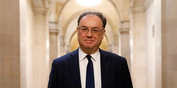 El gobernador del Banco de Inglaterra, Andrew Bailey.