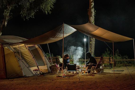 camping con amigos