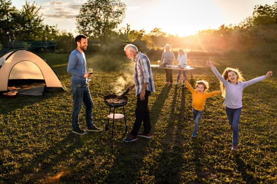 Camping familia acampada