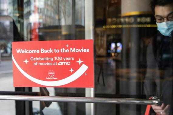 Uno de los cines de AMC reabierto en Nueva York (EEUU)