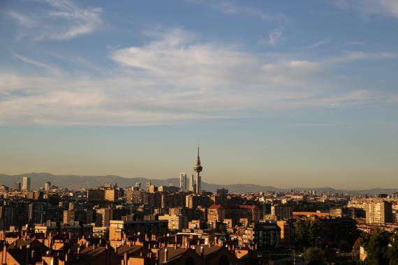 Imagen panorámica de la contaminación de Madrid.