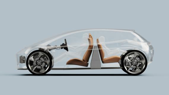 Diseño de batería vertical de coche eléctrico de la startup británica Page Roberts