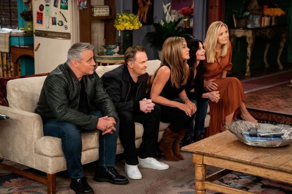 Un fotograma de la reunión de Friends en HBO
