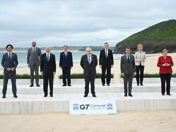 Foto de familia del G7 en Cornualles, junio 2021.