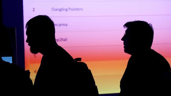 'Hackers' en un congreso sobre ciberseguridad, Def Con, en 2017.