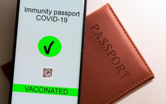 Una ilustración que muestra cómo será el pasaporte COVID