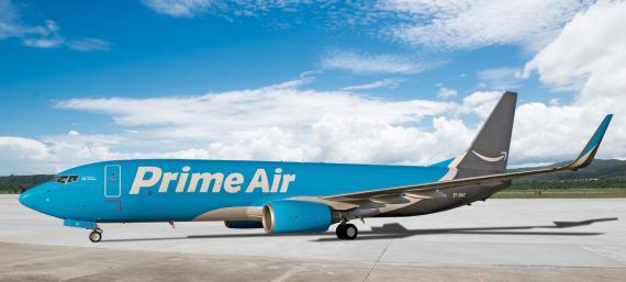Imagen de uno de los aviones de Amazon Air